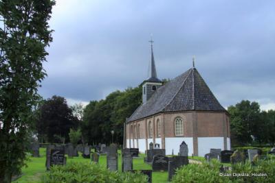 De mooie protestantse kerk in Noordwolde.