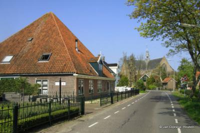Dorpsgezicht Oosthuizen met de Grote Kerk.