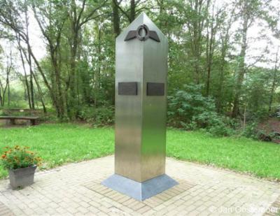 Ospeldijk, oorlogsmonument ter nagedachtenis aan de vliegtuigebemanningen die tijdens de Tweede Wereldoorlog in de Peel zijn omgekomen.