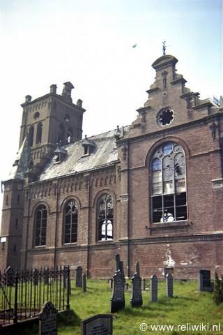 De sinds de jaren vijftig in verval geraakte en in 1984 afgebroken Adelskerk van Ald Beets