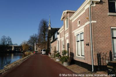 Oud Zuilen, de dorpsstraat langs de Vecht