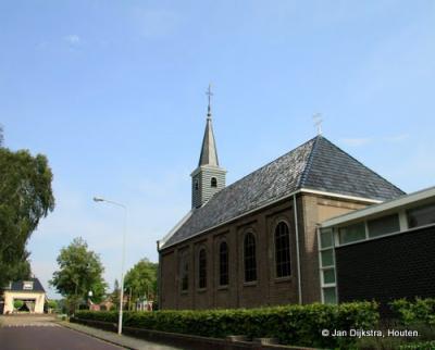 De hervormde kerk in Oudehaske.