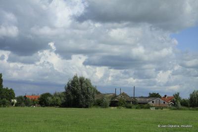 Oukoop, in de verte, vanuit Polder Oukoop en Negenviertel