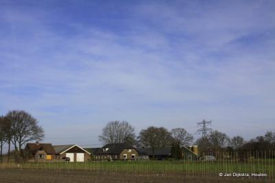Zicht op een gedeelte van het dorp Overberg