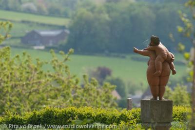 Tuinbeeld, uitkijkend vanuit Bergenhuizen