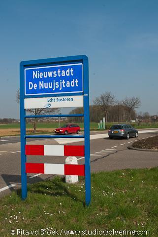 Nieuwstadt, plaatsnaambord