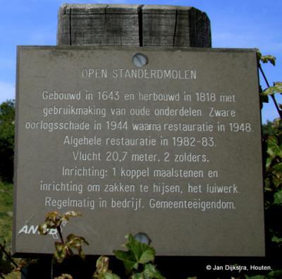 Tekst en uitleg bij de molen van Retranchement
