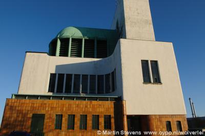 Rotterdam, bijzondere architectuur van een van de Maastunnelgebouwen