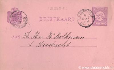 Van 1871 tot 1883 was er ergens in de polder Ruigenhil (gemeente Willemstad) een hulppostkantoor met die naam. Wie weet waar dat was?