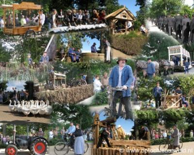 Eén keer in de veel jaar is er in Saasveld een Cultuurhistorische Optocht, een groots evenement dat tienduizenden bezoekers trekt. De laatste editie was in 2010 (daar is deze collage ook van). Voor nadere toelichting zie het kopje Evenementen.