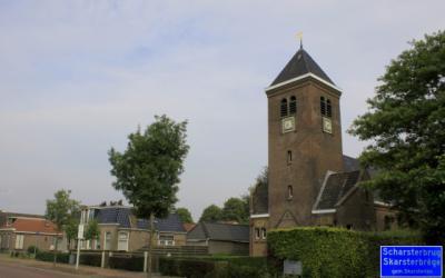 Dorpsgezicht Scharsterbrug, vanaf de Hollandiastraat