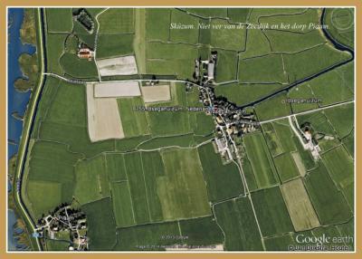 Idsegahuizum, gelegen in de polder Kooihuizen.