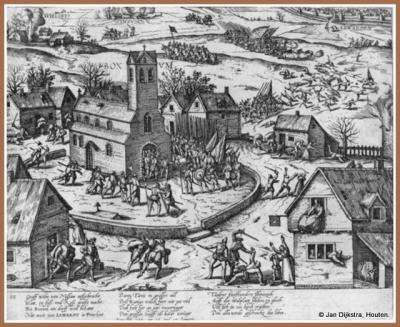17 januari 1586, de Slag bij Boksum tussen de Spanjaarden en het Staats leger