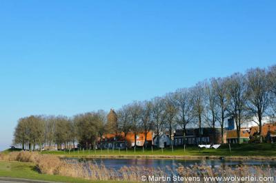 Sloten, Sleat, Gaasterlân-Sleat, bolwerk en stad vanaf de provinciale weg