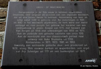 Tekst en uitleg bij de Martinikerk in Sneek