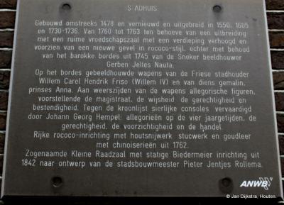 Tekst en uitleg bij het stadhuis in Sneek