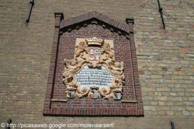 Spannum, cartouche aan de kerktoren