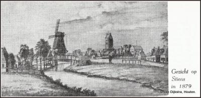 Tekening van Stiens anno 1879