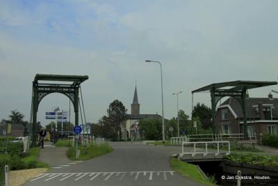 De dubbele brug in Stolwijk