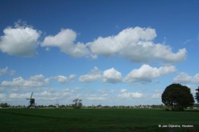 Het landschap van de Alblasserwaard bij Streefkerk
