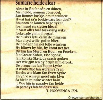 Mooi gedicht over Sumarreheide