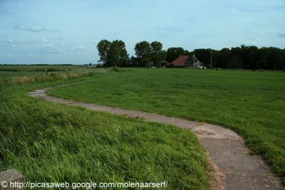 In de omgeving van Suwâld is het mooi wandelen over smalle paadjes.