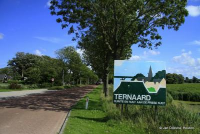 In Ternaard aangekomen.