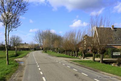 De langgerekte buurtschap Tienhoven