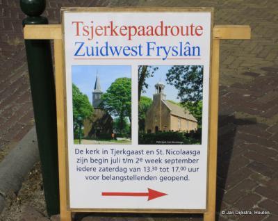 Tijdens de Tsjerkepaadroute, jaarlijks in de zomermaanden op de zaterdagmiddagen, ben je welkom bij meer dan 250 kerken in heel Fryslân. Ook de kerk van Tjerkgaast doet daaraan mee.