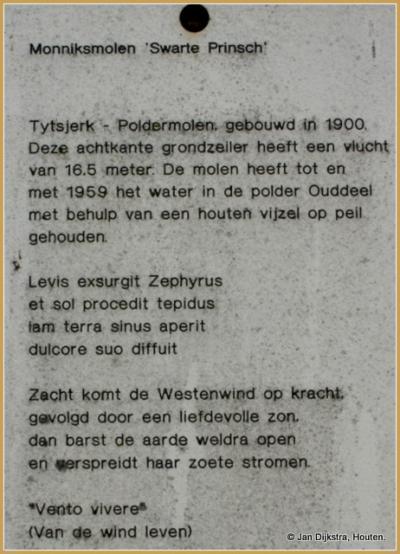 Tekst en uitleg bij Molen De Swarte Prinsch in Tytsjerk