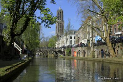 Utrecht, de Oudegracht, met uniek Utrechtse werfkelders