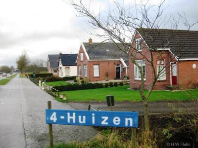 Vierhuizen, een vorige versie van het plaatsnaambord
