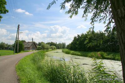 Het riviertje Vlist tussen Schoonhoven en Haastrecht.