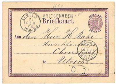 Vriezenveen is in de 19e eeuw o.a. ook gespeld als Vriesenveen, getuige o.a. dit poststuk met stempel Vriesenveen uit 1874. Ook in de Volkstelling van 1840 heette de plaats al zo.
