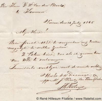 In 1822 koopt de Rotterdamse koopman Jan Viruly de heerlijkheden Vuiren en Dalem en mag zich daardoor 'Viruly van Vuren en Dalem' noemen. Zie de ondertekening van deze brief uit 1865, waarin Viruly twee vaten bier bestelt bij een bierbrouwer te Heumen.