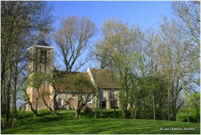 Het kerkje van Wadway in West-Friesland.