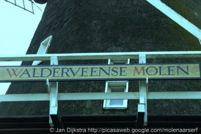 Walderveen, naambord op de Walderveense Molen