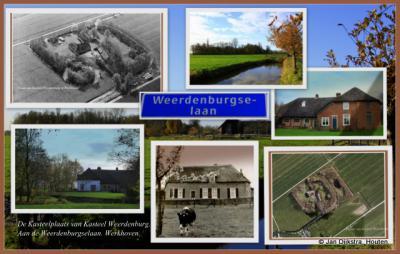Werkhoven, Weerdenburgselaan, plaats van Kasteel Weerdenburg,  vermoedelijk al begin 16e eeuw afgebroken