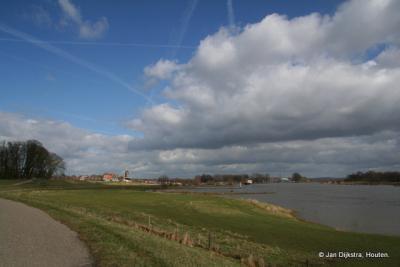 Wijk bij Duurstede, hier nog aan de Lek, maar even verderop aan de Nederrijn