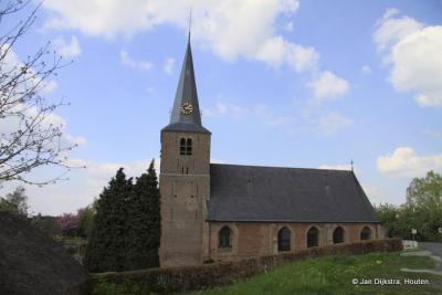 De N.H. kerk uit de 14e eeuw aan de Maasdijk in Wijk en Aalburg.