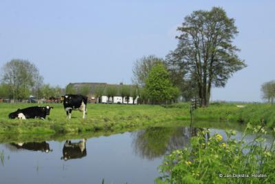 Alblasserwaards landschap aan het Oosteinde in Wijngaarden