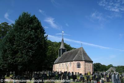 Wijnjewoude, kerk en kerkhof Duurswoude.