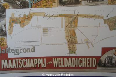 Willemsoord, informatiepaneel waarop de ligging van Willemsoord als oorspronkelijke 'kolonie' staat aangegeven.