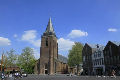 De Pertrus kerk op het Kerkplein in Woerden.