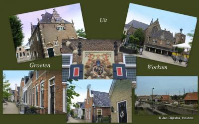 Workum, collage van stadsgezichten