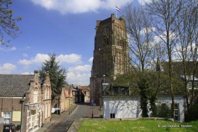 Stadsgezicht van de vestingstad Woudrichem.