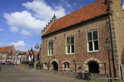 In het oude centrum van Woudrichem.