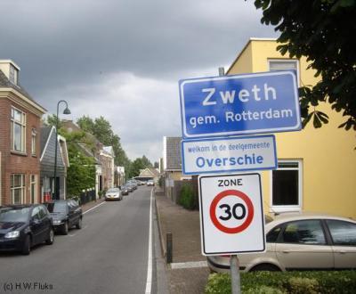 Zweth is een buurtschap N van Schiedam, NW van Overschie, rond het punt waar Delftse Schie en Berkelse Zweth elkaar ontmoeten.