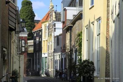 Kromme Jak één van de oudste straten van Zwolle.