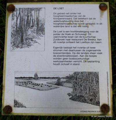 Tekst en uitleg over het riviertje de Loet.